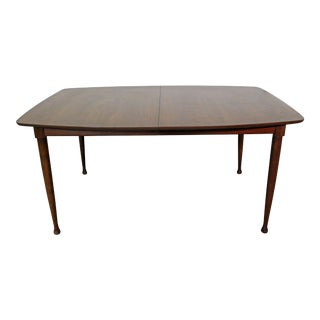 Mid-Century Danish Modern Walnut Surfboard Dining Table For Sale