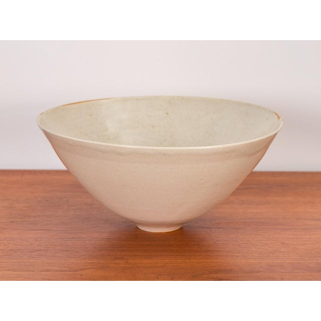 Bone Porcelain Serving Bowl by Mary Roehm For Sale - Image 9 of 9