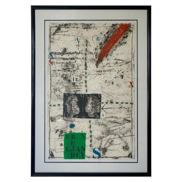 """Vintage James Coignard Mixed Media Etching Lithograph """"Ea"""" Artist Proof For Sale - Image 11 of 12"""