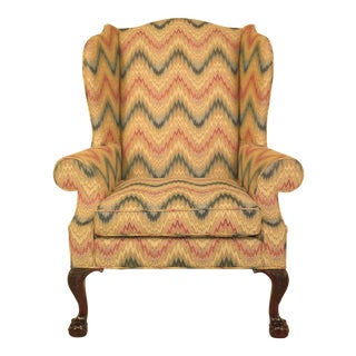 Kindel Model #310 Robb Collection Clawfoot Mahogany Wing Chair