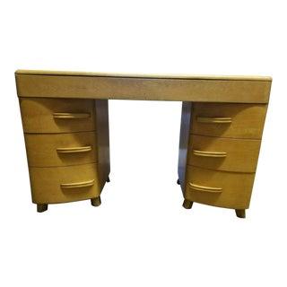 Mid-Century Modern Heywood Wakefield Kneehole Desk For Sale