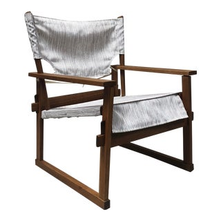 1950s Danish Modern Poul Hundevad Safari Chair For Sale