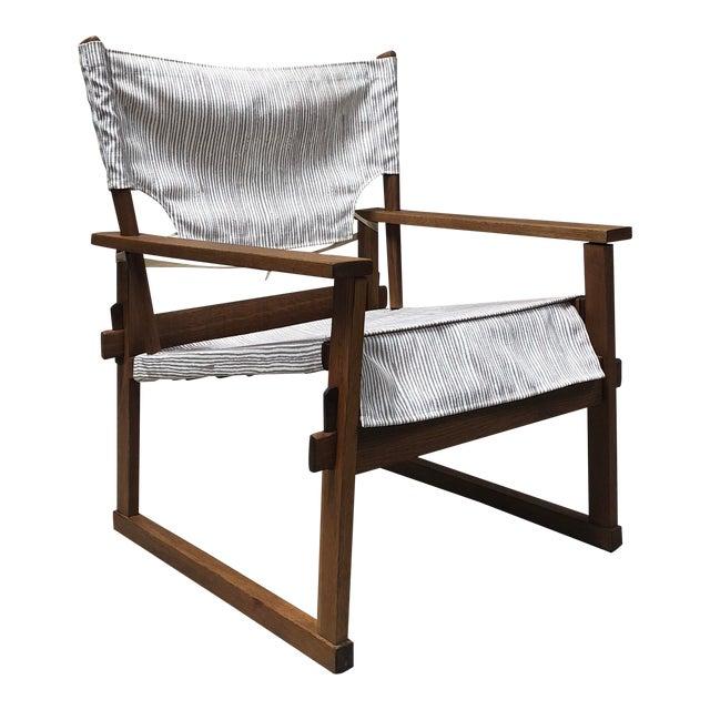 1950s Danish Modern Poul Hundevad Safari Chair For Sale