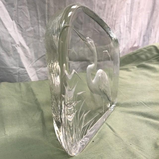 Mats Jonasson Heron Art Glass Sculpture by Mats Jonasson For Sale - Image 4 of 7