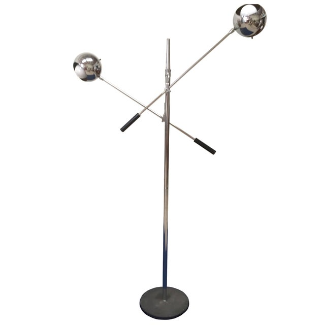 Two-Armed Italian Floor Lamp For Sale In New York - Image 6 of 6