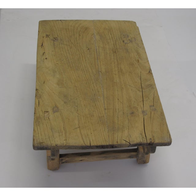 Chinese Small Rustic Kang Accent Table or Coffee Table For Sale - Image 3 of 7