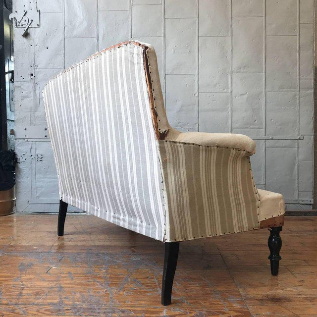 Small French Settee With High Back For Sale - Image 5 of 11