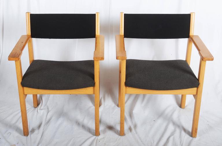 Danish Modern Vintage Armchairs By Hans J. Wegner For Getama   A Pair For  Sale