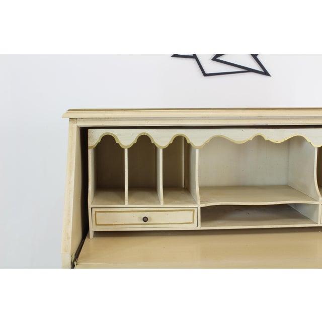 Traditional Secretary Desk, Cream Secretary Desk For Sale - Image 10 of 12