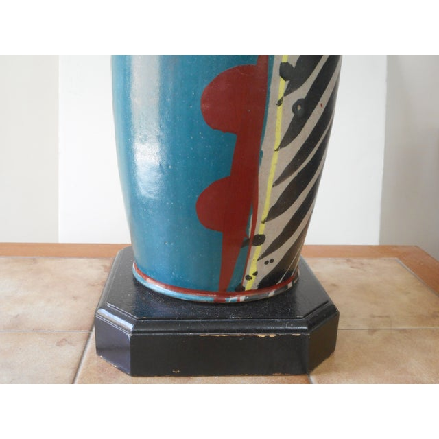 Mid-Century Pottery Lamp - Image 5 of 6