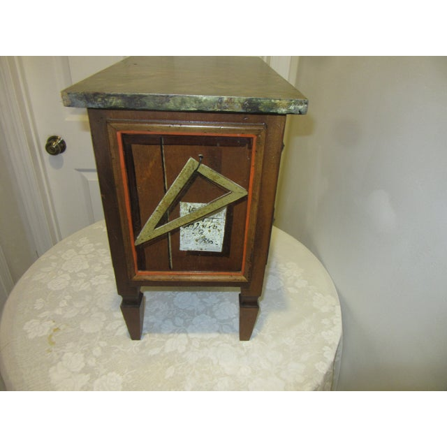 1970s Trompe l'Oeil Mid Century 1970's Hickory Chair Collector's MIX Miniature Chest For Sale - Image 5 of 12