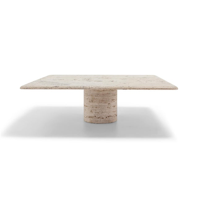 Mangiarotti Square Travertine Coffee Table for Up & Up For Sale - Image 9 of 9