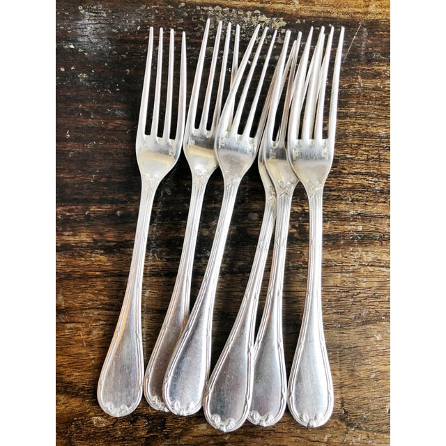 Silver 1910s Christofle Silver Flatware Service for 6 From Plaza Athenee Hotel Paris - Set of 24 For Sale - Image 8 of 12