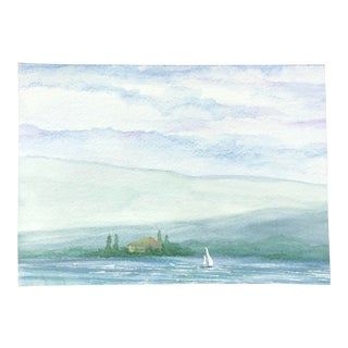 """Tomorrow on Every Shore"" Original Watercolor Seascape Painting For Sale"