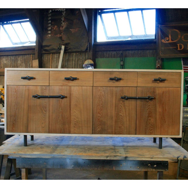 Industrial Franklin Credenza/Sideboard For Sale In New Orleans - Image 6 of 8