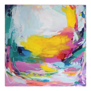 """Sunny Side Up"" 30x30"" Original Painting on Canvas by Amira Rahim"