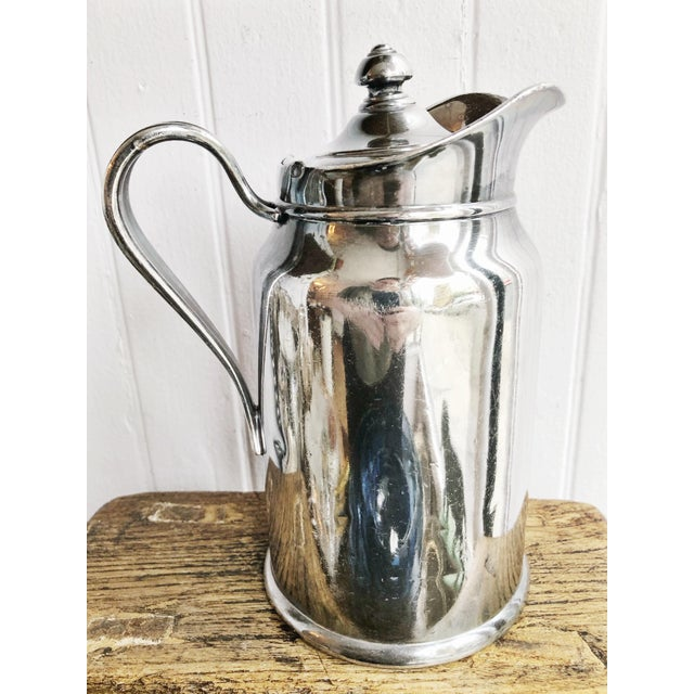 1940s 1948 Silver Plated Insulated Pitcher From the Biltmore Hotel in Santa Barbara Ca For Sale - Image 5 of 7