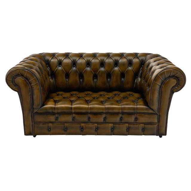 Marvelous Vintage English Leather Chesterfield Sofa Download Free Architecture Designs Scobabritishbridgeorg