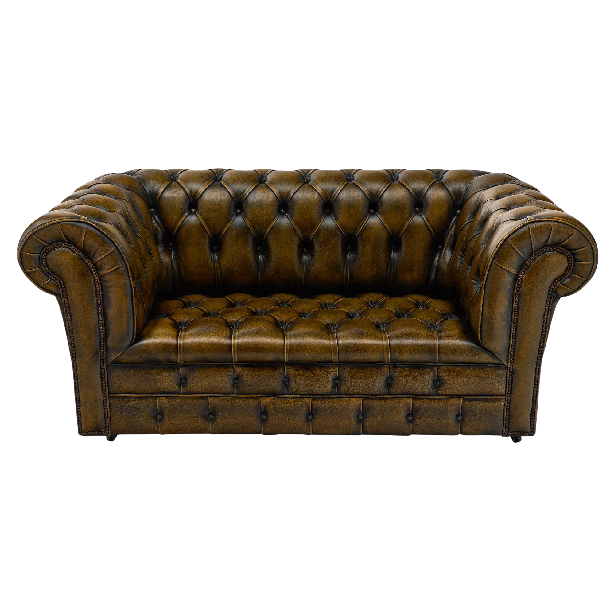 Superieur Vintage English Leather Chesterfield Sofa
