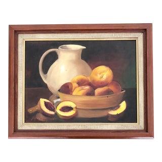 1980s Still Life Framed Oil Painting For Sale