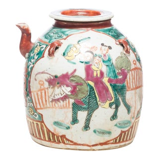 Mid 19th Century Antique Chinese Dowry Teapot For Sale