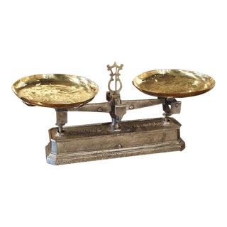 Antique French 10 Kilo Scale, Circa 1910 For Sale