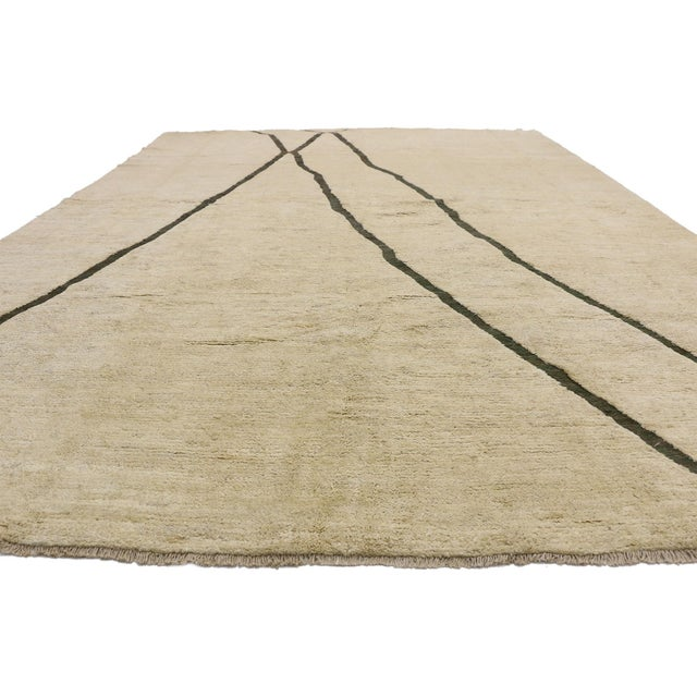 Contemporary 80523 Contemporary Moroccan Area Rug - 10'02 X 13'10 For Sale - Image 3 of 10