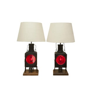 Antique Train Lantern Lamp-Only One Left For Sale