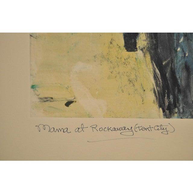 "Arthur Krakower ""Mama at Rockaway"" Original Monotype C. 2003 - Image 4 of 5"