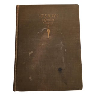 Verse Adelaide Crapsey, 1915 Signed Edition For Sale