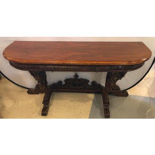 Horner Brothers Quality Flip Top Dining Table With 4 Full Bodied Winged Griffins Preview
