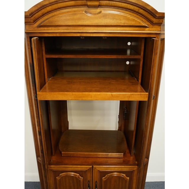 "Traditional Vintage Italian Provincial Cherry 41"" Entertainment Cabinet/Media Armoire For Sale - Image 3 of 13"