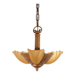 Art Deco Pendant Fixture (3-Light)