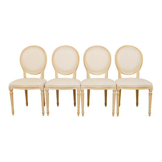 Louis XVI Dining Chairs - Set of 4 - Image 1 of 9