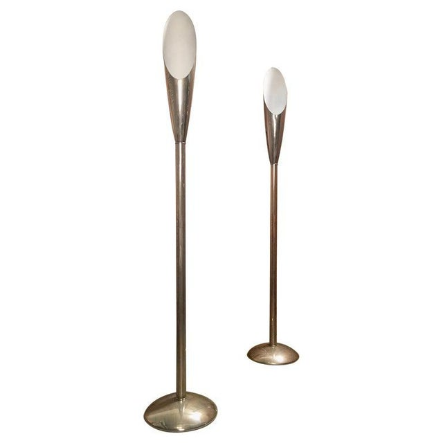 Mid 20th Century Modernist Aluminum Torchère Floor Lamps - a Pair For Sale - Image 13 of 13