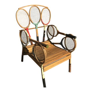 John Scarola Handcrafted Tennis Racquet Chair For Sale