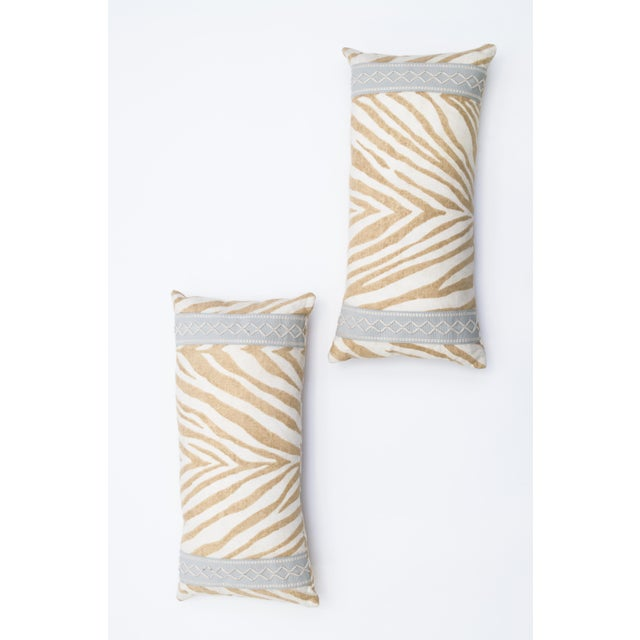 Animal Print Lumbar Pillows- A Pair - Image 3 of 3