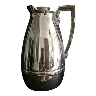 Mid-Century Modern Stainless Steel & Lucite Carafe