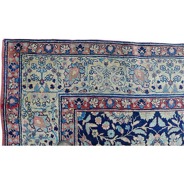 "Antique Persian ""Tabriz"" Handmade Rug - 9′ × 12′ For Sale - Image 4 of 8"