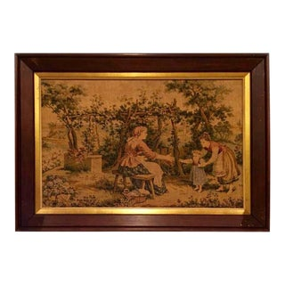19th Century Antique French Framed Tapestry