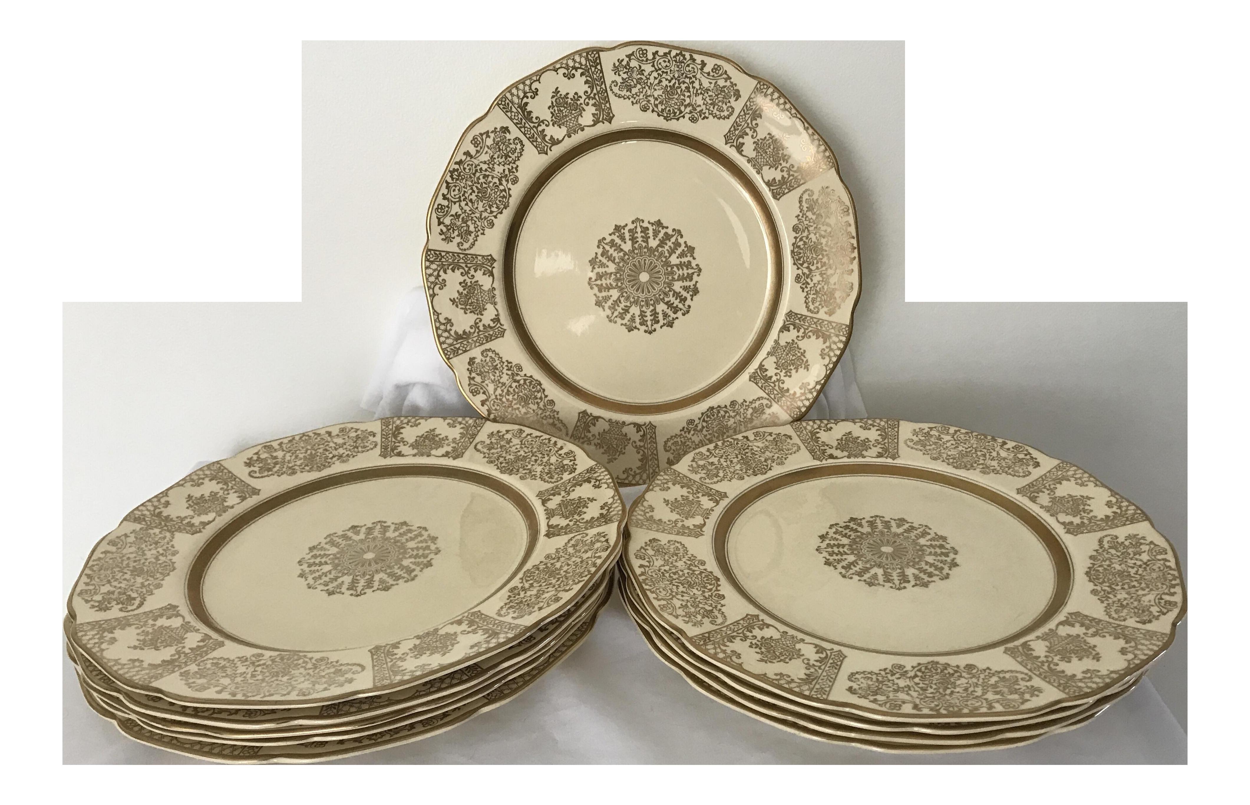 Johnson Bros JB13 Victorian Dinner Plates- Set of 10  sc 1 st  Chairish & Vintage \u0026 Used Victorian Dinnerware | Chairish