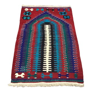 Small Vintage Turkish Kilim Rug For Sale