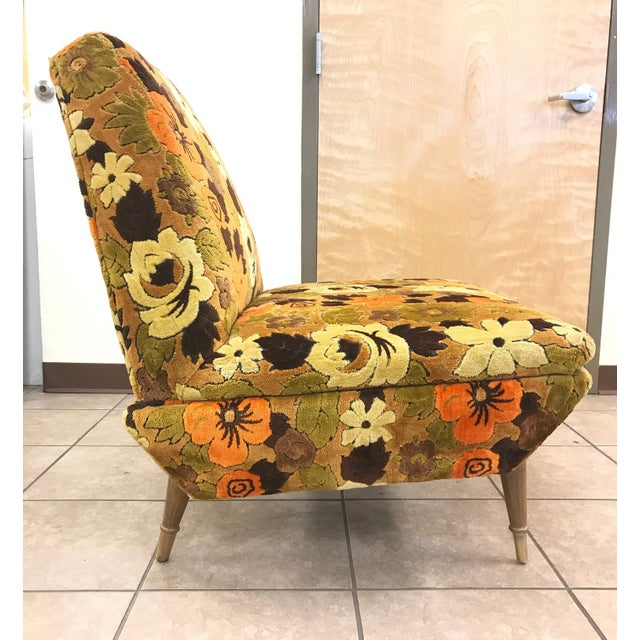 Italian Mid Century Modern Lounge Chair For Sale - Image 4 of 5
