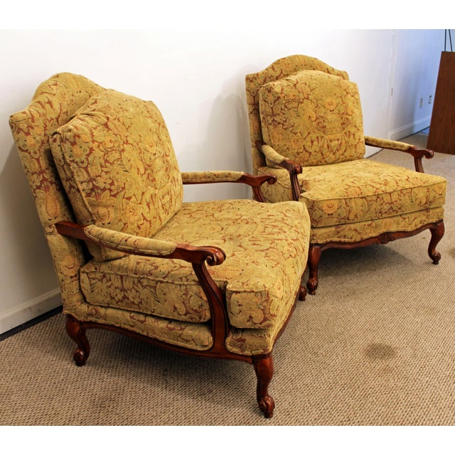 Ethan Allen French Country Lounge Chairs - A Pair - Image 4 of 11