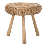 Image of Tony Paul Rattan Stool For Sale