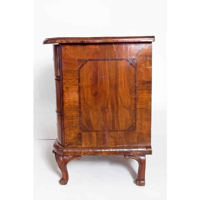 Walnut Mid-18th Century Baroque Walnut Three Drawer Chest For Sale - Image 7 of 13