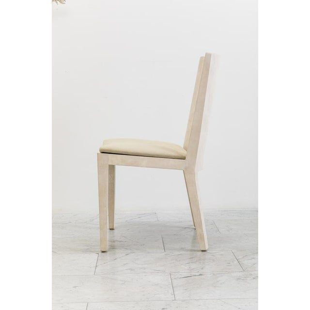 Karl Springer, Matte Parchment Jmf Chairs, Usa, C.1975 For Sale In New York - Image 6 of 7
