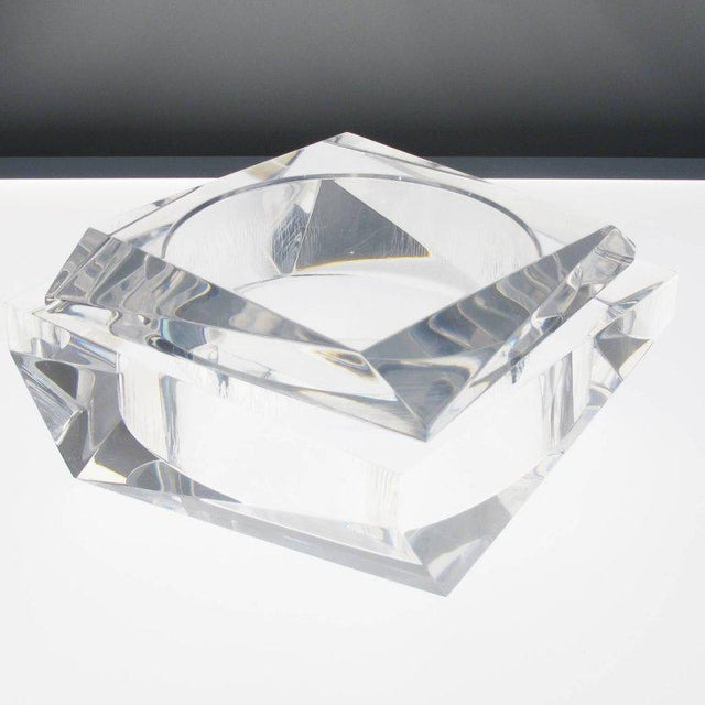Acrylic Mid-Century Modern Italian Prismatic Lucite Box For Sale - Image 7 of 11