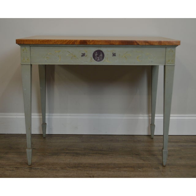 Schmieg & Kotzian Adams Hand Painted One Drawer Side Table For Sale - Image 9 of 12