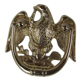Brass Eagle Door Knocker For Sale